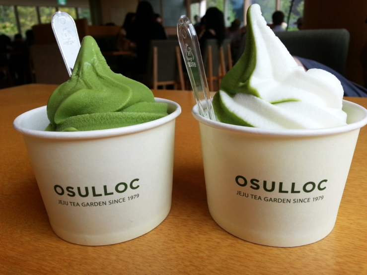 The time we at green tea ice cream at the O'Sulloc Tea Museum in Jeju and I regret not buying more tea from there because it's the best tea ever