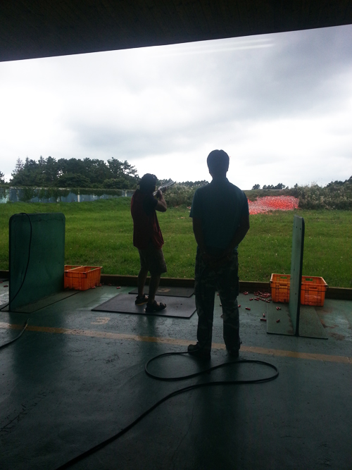 The time Mark got to do some skeet shooting in Jeju, something he'd always been wanting to do